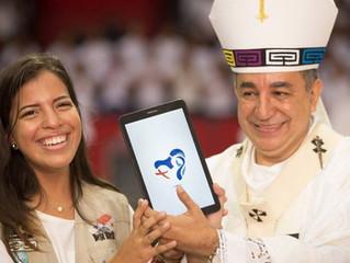 Panamá: um logotipo com o coração de Maria e a Cruz da JMJ