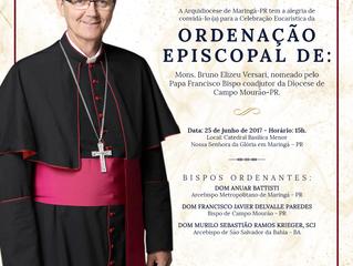 Ordenação episcopal do monsenhor Bruno será domingo na Catedral de Maringá