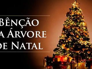 Rito de bênção da árvore de Natal em família