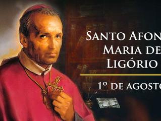 Hoje é dia de Santo Afonso Maria de Ligório, fundador dos Redentoristas