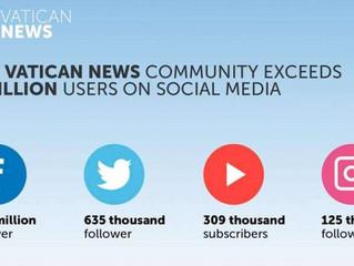 Redes sociais do Vaticano superam os 4 milhões de usuários