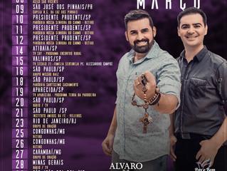 Alvaro e Daniel preparam agenda de divulgação em São Paulo