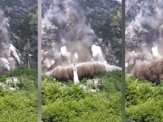 """A incrível avalanche que """"se negou"""" a destruir uma igreja dedicada a Maria"""