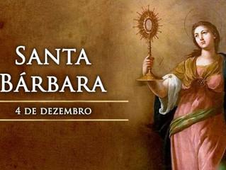 Hoje é celebrada Santa Bárbara, virgem e mártir