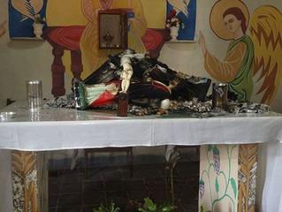 Sacrário é violado e imagens são queimadas sobre o altar no Rio Grande do Norte