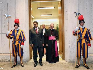 Papa recebe Maduro: aliviar o sofrimento do povo