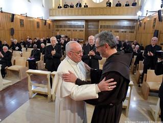 Papa agradece a Pe. Michelini pela pregação dos Exercícios espirituais
