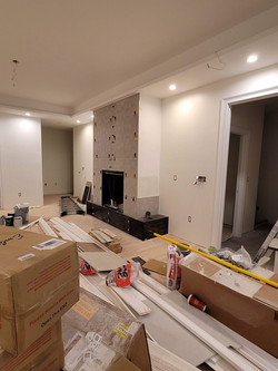 Fireplace Tile Installation