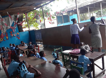 Photos and report from school of Saint Augustin