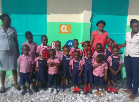 Photos and report from Kindergarden Les Petits St Jeannais Des Cayes