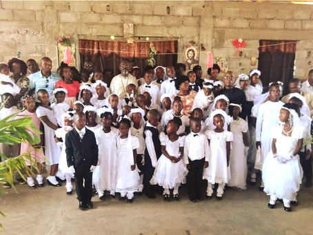 Good news - Fr. John baptized 36 children in the northern city of Cape Haitian