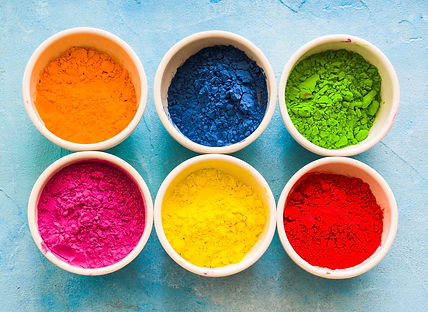white-frame-with-holi-color-powder-bowl-