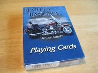Harley Davidson Heritage Softail Playing Cards