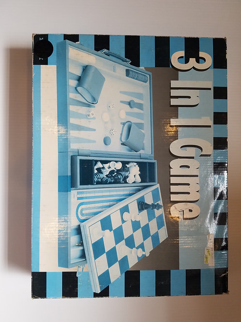 Backgammon Chess Cribbage 3 in 1