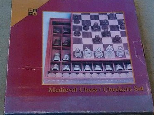 Medieval Chess/Checkers Set