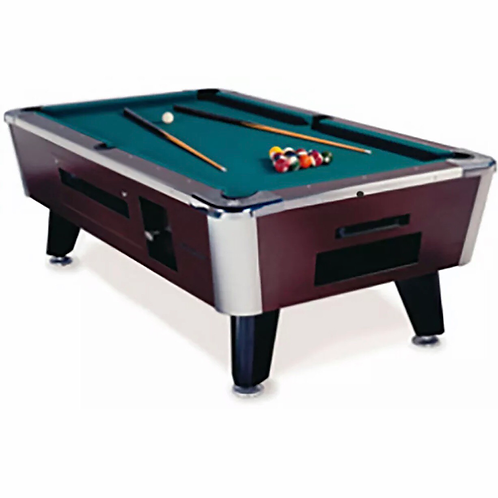 7' Coin operated pool table American Family slightly used