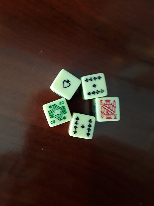 Set of 5 Poker Dice