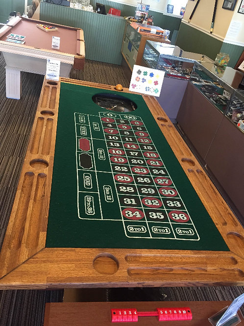 Roulette and Craps Bar with Storage