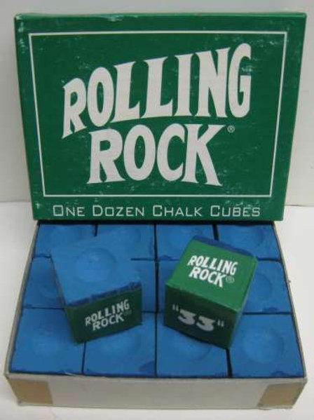 Rolling Rock ONe Dozen Chalk Cubes