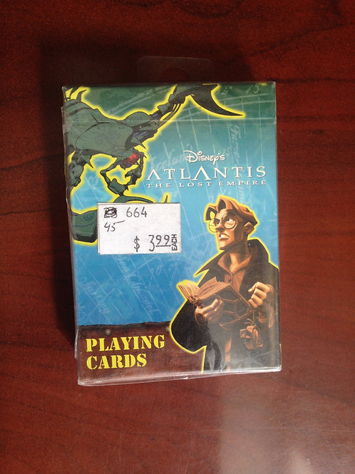 "Disney Atlantis ""The Lost Empire"" Playing Cards"