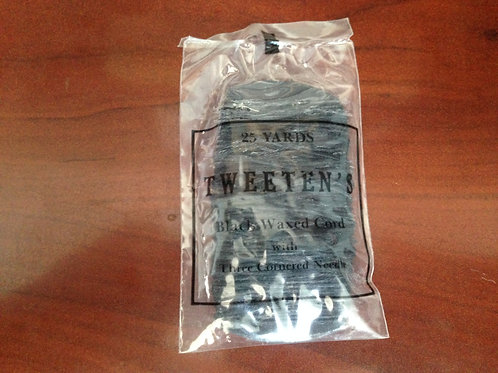 Tweeten's 25 Yard Black Waxed Cord with Needle