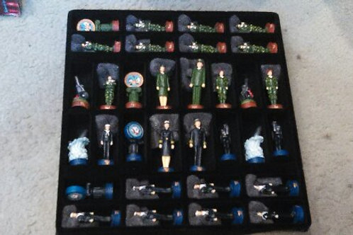 The Chessman Collectible Game Pieces (Navy-Army)