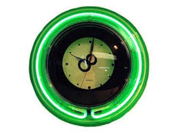 NEON 8 BALL CLOCK