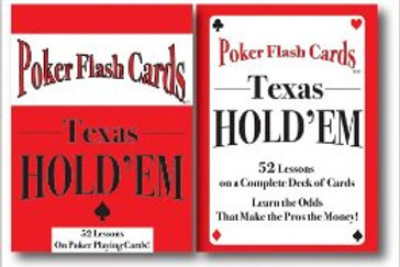 "Poker Flash Cards ""Texas Hold Em"""