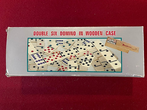 Double Six Domino in Wooden Case
