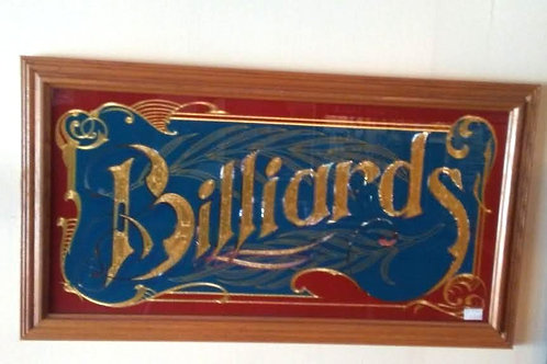BILLIARD MIRRORED SIGN