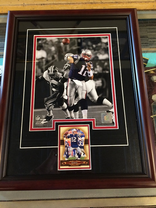 Authentic Tom Brady poster with trading card