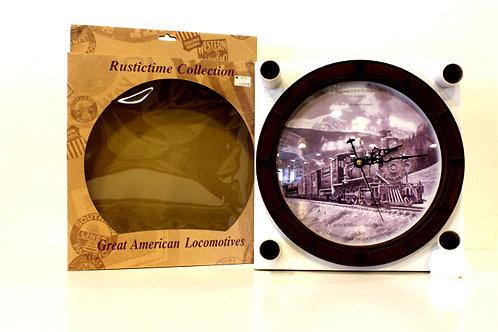 Great America Locomotives Clock