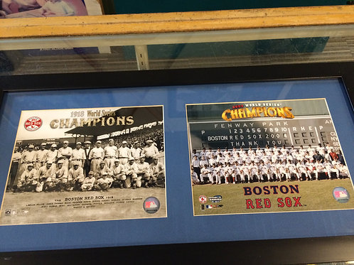Boston Red Sox 1918 and 2004 World Series Poster
