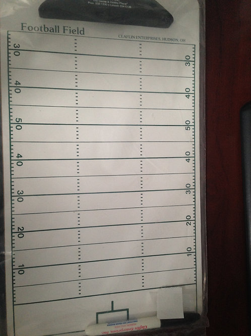 Football Field Dry Erase Coaching Board