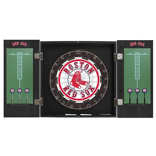 Boston Red Sox Dart Borad & Cabinet Kit