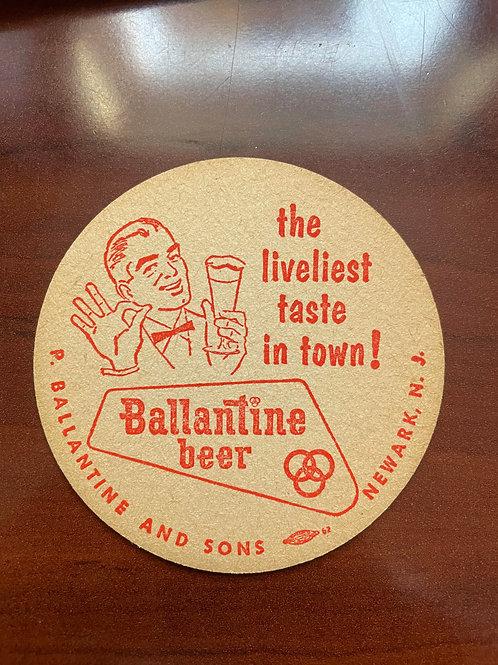 Ballantine Beer Coaster