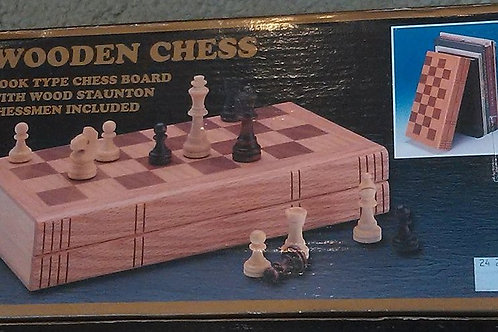 Wooden Chess - Book Type Board