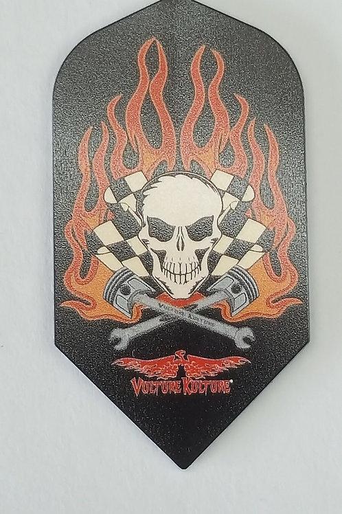Vulture Kulture Flaming Skull Stardard Dart Flight
