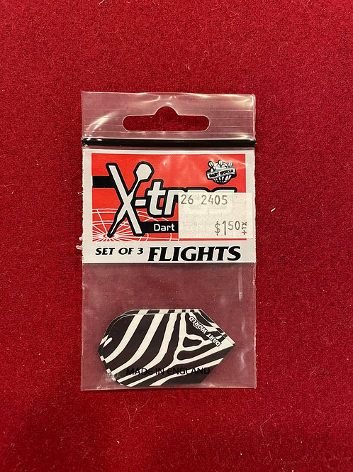 "X-tras Zebra ""dart World"" Flights"