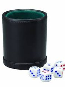 Fat Cat Dice Cup with Five Dice