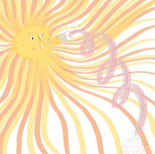 Sun Confetti Shower