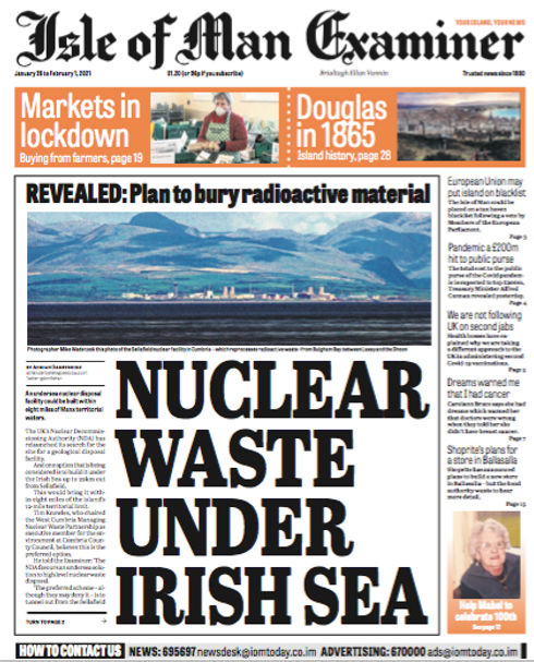 Isle of Man Examiner Nuclear Waste Under