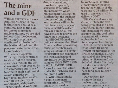 Spot the Difference - The Mine and a GDF - Letter