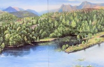 Tarn Hows original painting in the private collection of the National Trust