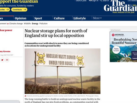 Guardian Article : What About the Appointment of Coal Mine Boss to Nuke Dump Plan??