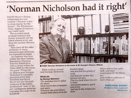 Norman Nicholson Had it Right: Nuclear IS Hell in a Grain of Sand