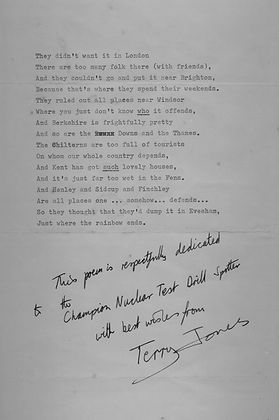 Terry Jones' Poem