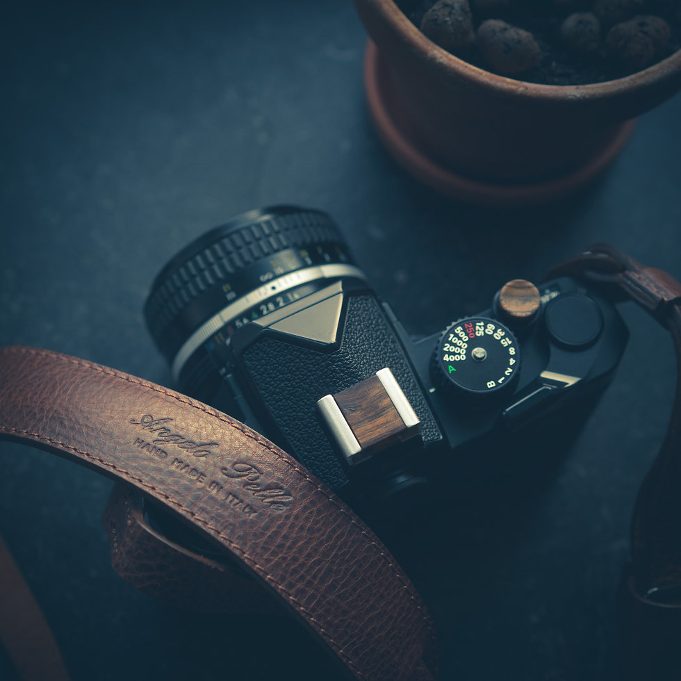 Nikon FM3A, Angelo Pelle Strap, Artisan Obscura Wooden Shutter