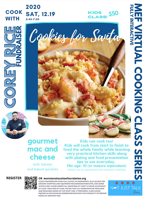 Cookies for Santa (Gourmet Mac and Cheese with Lobster and baked goodies)