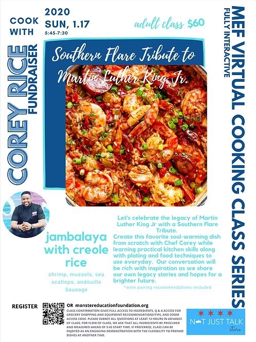Southern Flare Tribute to Martin Luther King Jr- Jambalaya with Creole Rice